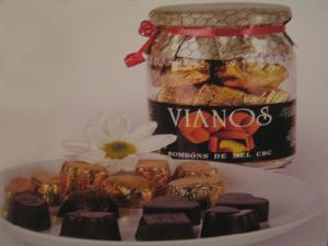 Los vianos son bombones de chocolate rellenos con miel.