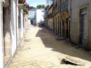 El Concello está llevando a cabo la obras de remodelación de toda la Calle San Roque y la Plaza de María Pita.