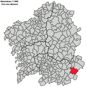 Situación de Viana do Bolo en Galicia